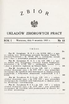 Zbiór Układów Zbiorowych Pracy. 1937, nr13
