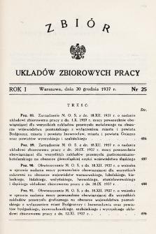 Zbiór Układów Zbiorowych Pracy. 1937, nr25