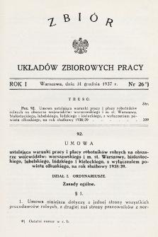 Zbiór Układów Zbiorowych Pracy. 1937, nr26