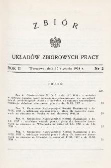 Zbiór Układów Zbiorowych Pracy. 1938, nr2