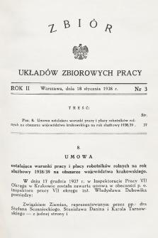 Zbiór Układów Zbiorowych Pracy. 1938, nr3