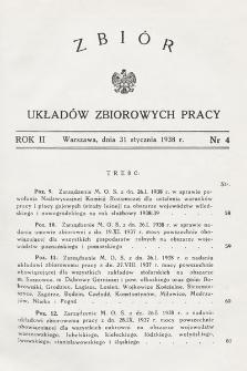 Zbiór Układów Zbiorowych Pracy. 1938, nr4
