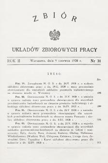 Zbiór Układów Zbiorowych Pracy. 1938, nr31