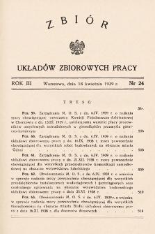 Zbiór Układów Zbiorowych Pracy. 1939, nr24