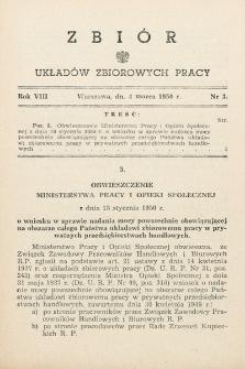 Zbiór Układów Zbiorowych Pracy. 1950, nr3