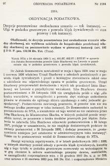 Orzecznictwo Sądów Najwyższych w Sprawach Podatkowych i Administracyjnych. R. 7, 1938, T. 1-2, nr2
