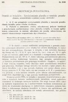 Orzecznictwo Sądów Najwyższych w Sprawach Podatkowych i Administracyjnych. R. 7, 1938, T. 1-2, nr11