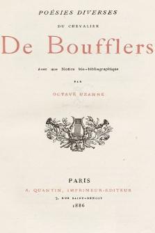 Poésies diverses du Chevalier de Boufflers