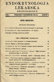 Endokrynologja Lekarska. 1936, z. 2