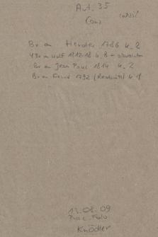 Berol. Ms. Autographen Sammlung, Conz