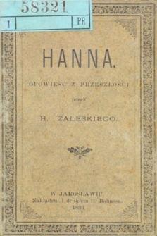 Hanna : opowieść z przeszłości