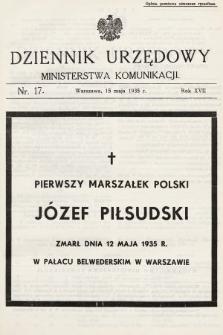 Dziennik Urzędowy Ministerstwa Komunikacji. 1935, nr17