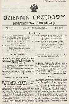 Dziennik Urzędowy Ministerstwa Komunikacji. 1936, nr4
