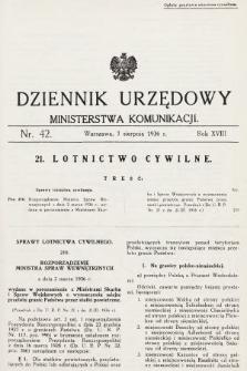 Dziennik Urzędowy Ministerstwa Komunikacji. 1936, nr42