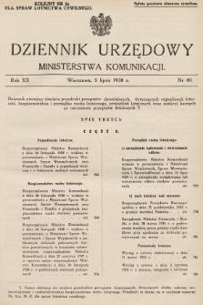 Dziennik Urzędowy Ministerstwa Komunikacji. 1938, nr49