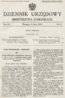 Dziennik Urzędowy Ministerstwa Komunikacji. 1938, nr50
