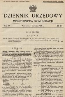 Dziennik Urzędowy Ministerstwa Komunikacji. 1938, nr55