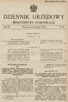 Dziennik Urzędowy Ministerstwa Komunikacji. 1938, nr68