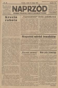 Naprzód : organ Polskiej Partji Socjalistycznej. 1932, nr34