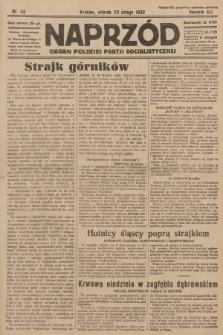 Naprzód : organ Polskiej Partji Socjalistycznej. 1932, nr43