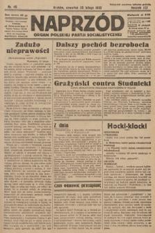Naprzód : organ Polskiej Partji Socjalistycznej. 1932, nr45