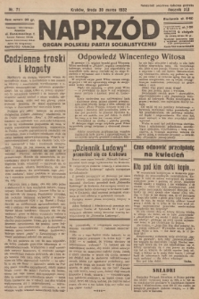 Naprzód : organ Polskiej Partji Socjalistycznej. 1932, nr71