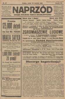 Naprzód : organ Polskiej Partji Socjalistycznej. 1932, nr97