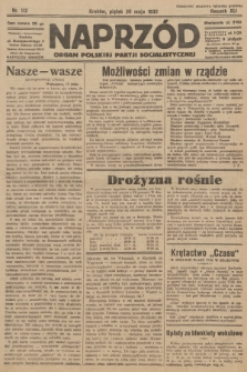 Naprzód : organ Polskiej Partji Socjalistycznej. 1932, nr112