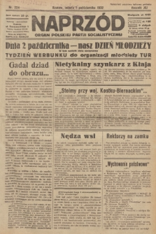 Naprzód : organ Polskiej Partji Socjalistycznej. 1932, nr224