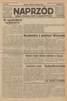 Naprzód : organ Polskiej Partji Socjalistycznej. 1932, nr279 (po konfiskacie nakład drugi)