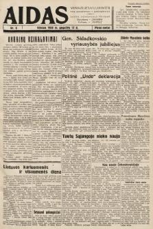 """Aidas : vilniaus lietuvių laikraštis eina antradieniais ir penktadieniais : duoda nemokamus priedus ūkininkams-""""ūkininką, Vaikams-""""Varpelį. 1938, nr6"""