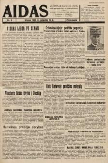 """Aidas : vilniaus lietuvių laikraštis eina antradieniais ir penktadieniais : duoda nemokamus priedus ūkininkams-""""ūkininką, Vaikams-""""Varpelį. 1938, nr9"""