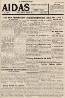 """Aidas : vilniaus lietuvių laikraštis eina antradieniais ir penktadieniais : duoda nemokamus priedus ūkininkams-""""ūkininką, Vaikams-""""Varpelį. 1938, nr12 (po konfiskacie nakład drugi)"""