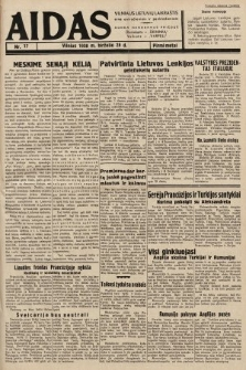 """Aidas : vilniaus lietuvių laikraštis eina antradieniais ir penktadieniais : duoda nemokamus priedus ūkininkams-""""ūkininką, Vaikams-""""Varpelį. 1938, nr17"""