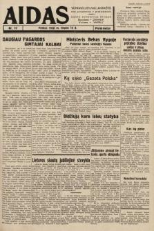 """Aidas : vilniaus lietuvių laikraštis eina antradieniais ir penktadieniais : duoda nemokamus priedus ūkininkams-""""ūkininką, Vaikams-""""Varpelį. 1938, nr22"""