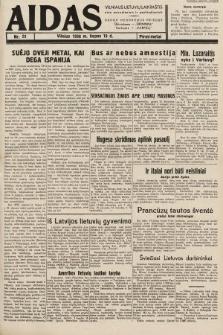 """Aidas : vilniaus lietuvių laikraštis eina antradieniais ir penktadieniais : duoda nemokamus priedus ūkininkams-""""ūkininką, Vaikams-""""Varpelį. 1938, nr23"""