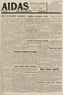 """Aidas : vilniaus lietuvių laikraštis eina antradieniais ir penktadieniais : duoda nemokamus priedus ūkininkams-""""ūkininką, Vaikams-""""Varpelį. 1938, nr26"""
