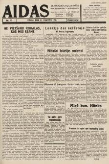 """Aidas : vilniaus lietuvių laikraštis eina antradieniais ir penktadieniais : duoda nemokamus priedus ūkininkams-""""ūkininką, Vaikams-""""Varpelį. 1938, nr32"""