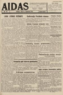 """Aidas : vilniaus lietuvių laikraštis eina antradieniais ir penktadieniais : duoda nemokamus priedus ūkininkams-""""ūkininką, Vaikams-""""Varpelį. 1938, nr34"""