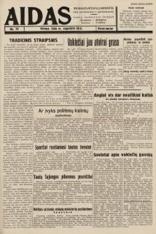 """Aidas : vilniaus lietuvių laikraštis eina antradieniais ir penktadieniais : duoda nemokamus priedus ūkininkams-""""ūkininką, Vaikams-""""Varpelį. 1938, nr35"""