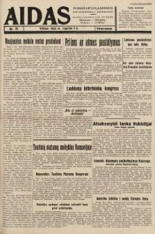 """Aidas : vilniaus lietuvių laikraštis eina antradieniais ir penktadieniais : duoda nemokamus priedus ūkininkams-""""ūkininką, Vaikams-""""Varpelį. 1938, nr36"""
