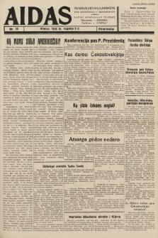 """Aidas : vilniaus lietuvių laikraštis eina antradieniais ir penktadieniais : duoda nemokamus priedus ūkininkams-""""ūkininką, Vaikams-""""Varpelį. 1938, nr38"""