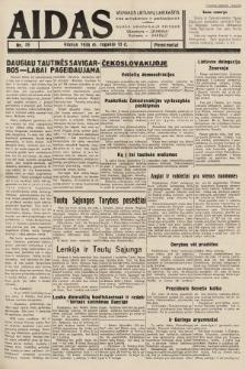 """Aidas : vilniaus lietuvių laikraštis eina antradieniais ir penktadieniais : duoda nemokamus priedus ūkininkams-""""ūkininką, Vaikams-""""Varpelį. 1938, nr39"""