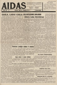 """Aidas : vilniaus lietuvių laikraštis eina antradieniais ir penktadieniais : duoda nemokamus priedus ūkininkams-""""ūkininką, Vaikams-""""Varpelį. 1938, nr40"""