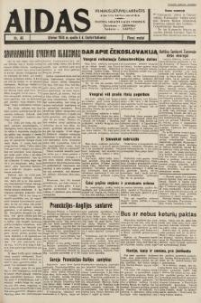 """Aidas : vilniaus lietuvių laikraštis eina tris kartus savaitėje : duoda nemokamus priedus ūkininkams-""""ūkininką"""", Vaikams-""""Varpelį"""". 1938, nr46"""