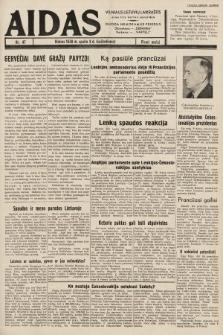 """Aidas : vilniaus lietuvių laikraštis eina tris kartus savaitėje : duoda nemokamus priedus ūkininkams-""""ūkininką"""", Vaikams-""""Varpelį"""". 1938, nr47"""