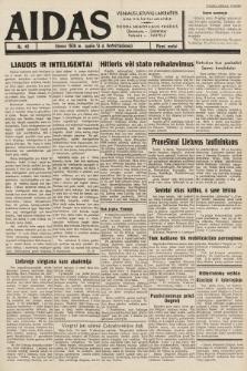 """Aidas : vilniaus lietuvių laikraštis eina tris kartus savaitėje : duoda nemokamus priedus ūkininkams-""""ūkininką"""", Vaikams-""""Varpelį"""". 1938, nr49"""