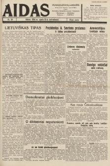 """Aidas : vilniaus lietuvių laikraštis eina tris kartus savaitėje : duoda nemokamus priedus ūkininkams-""""ūkininką"""", Vaikams-""""Varpelį"""". 1938, nr54"""