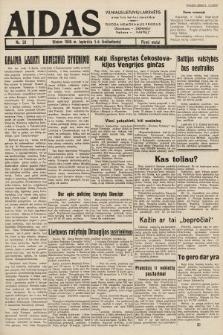 """Aidas : vilniaus lietuvių laikraštis eina tris kartus savaitėje : duoda nemokamus priedus ūkininkams-""""ūkininką"""", Vaikams-""""Varpelį"""". 1938, nr59"""