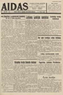 """Aidas : vilniaus lietuvių laikraštis eina tris kartus savaitėje : duoda nemokamus priedus ūkininkams-""""ūkininką"""", Vaikams-""""Varpelį"""". 1938, nr61"""